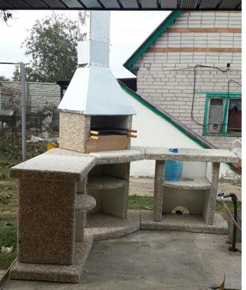Барбекю бетона